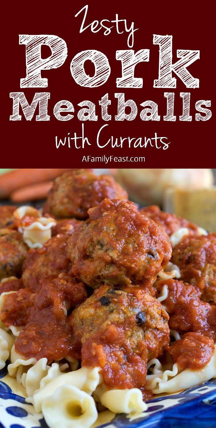 Dinner time will never be the same thanks to these zesty and delicious Pork Meatballs with Currants!