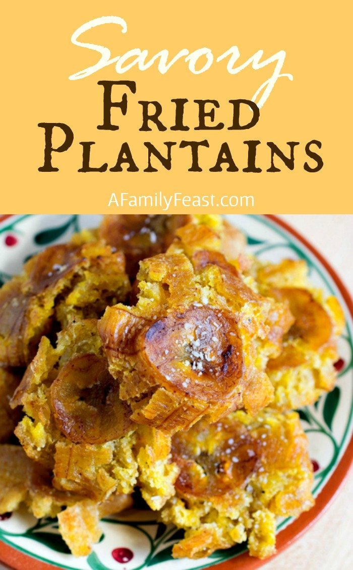 Savory Fried Plantains - Step by step photos and instructions to make this easy snack!