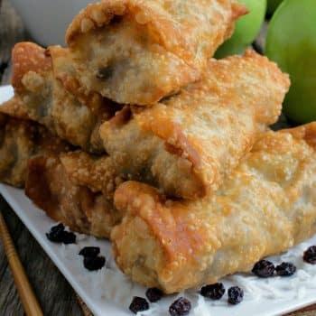 Asian Spice Apple Eggrolls - A Family Feast