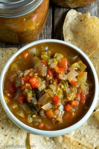 Peg's Green Tomato Salsa - A Family Feast