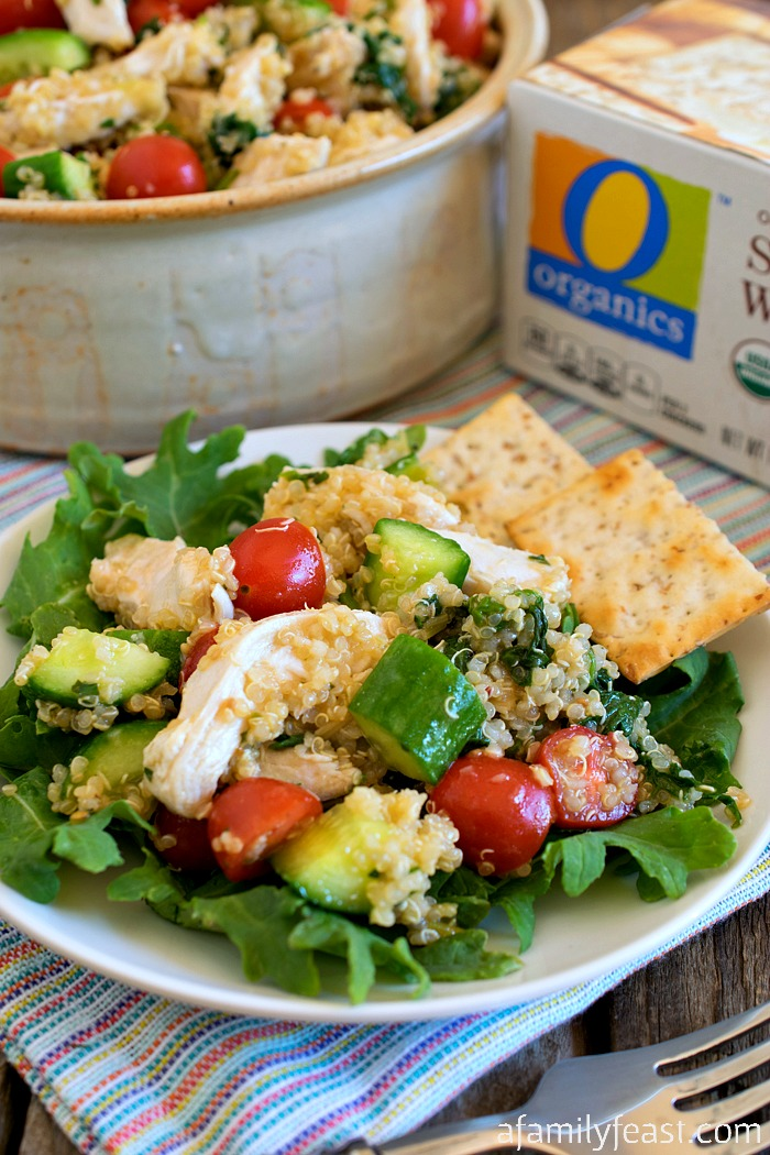 Quinoa Chicken and Vegetable Salad - A light and delicious salad ...