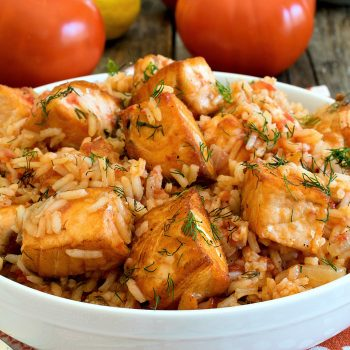 Sautéed Salmon with Rice and Tomatoes - A Family Feast