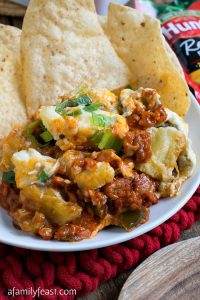 Italian Sausage and Eggplant Tailgate Dip - A Family Feast
