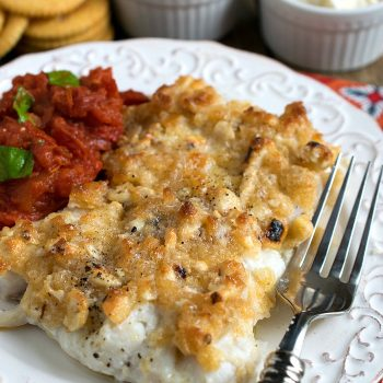 Baked Haddock with Cashew Cracker Crust - A Family Feast