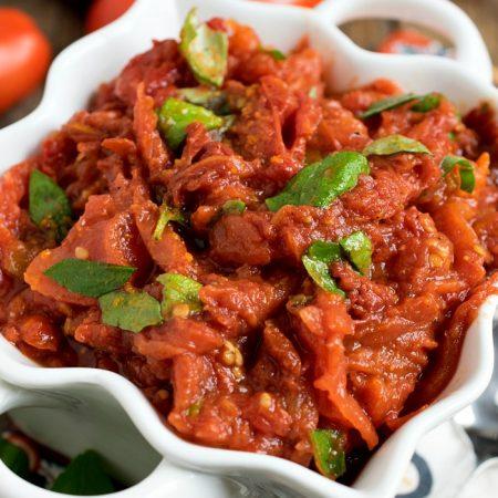 Garden Tomato Compote - A Family Feast