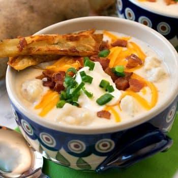 Loaded Baked Potato Soup - A Family Feast