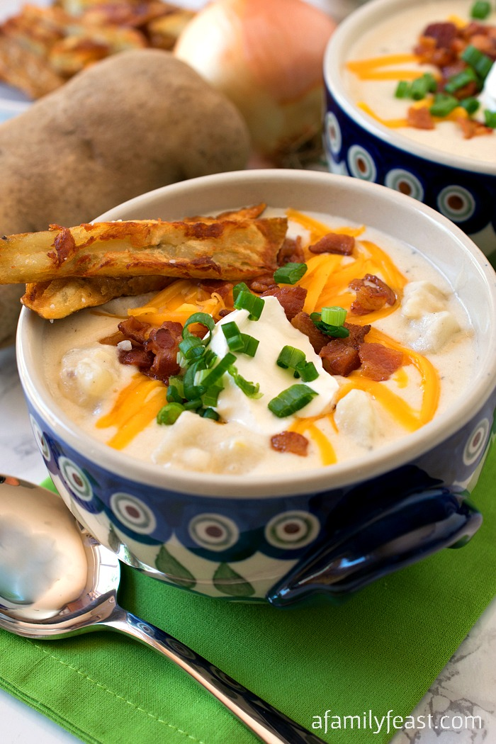Loaded Baked Potato Soup - A Family Feast