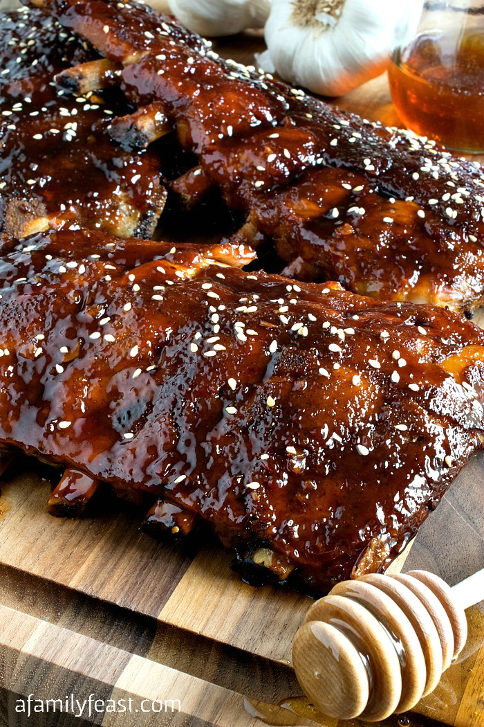 Slow Cooker Honey-Garlic Baby Back Ribs - A Family Feast