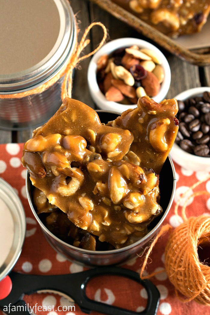 Coffee Nut Brittle - Great for gift giving this holiday season!