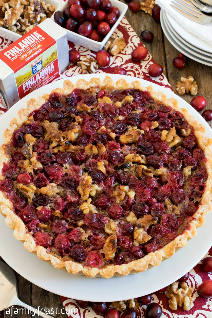 Cranberry Walnut Tart - A Family Feast