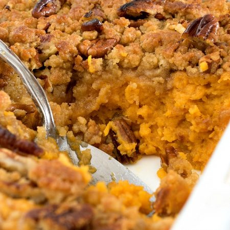 Ginger Maple Sweet Potato Casserole - A Family Feast