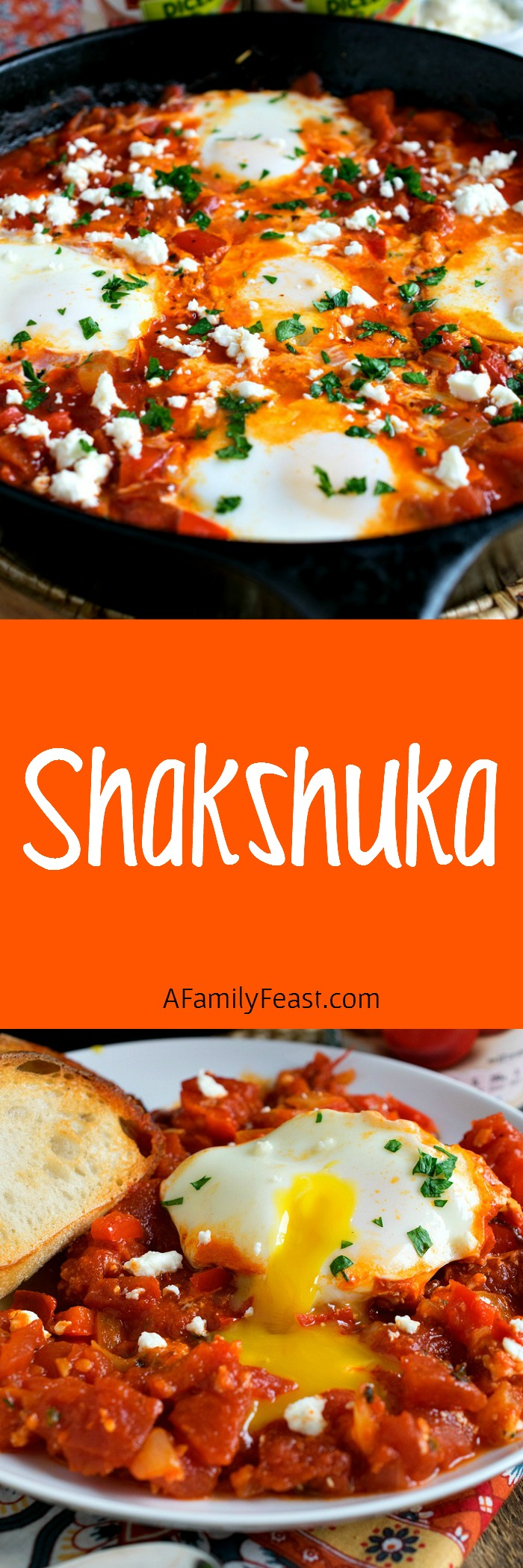Shakshuka - Ready in just 30 minutes, this wonderful egg and spicy tomato sauce dish is delicious any time of the day!