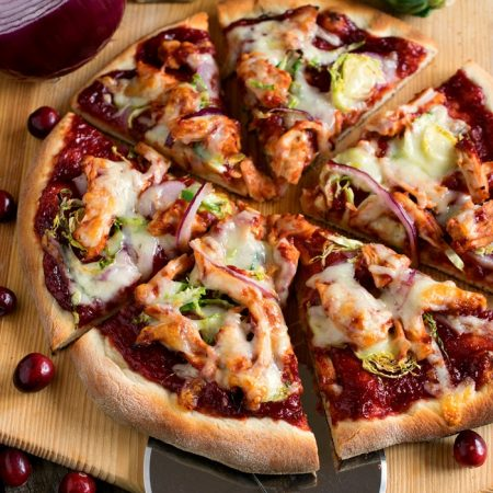 Cranberry Barbecue Turkey Pizza - A Family Feast