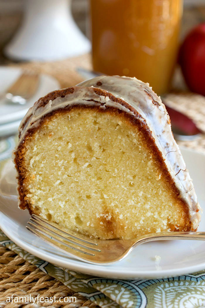 Apple Cider Poke Pound Cake - A Family Feast
