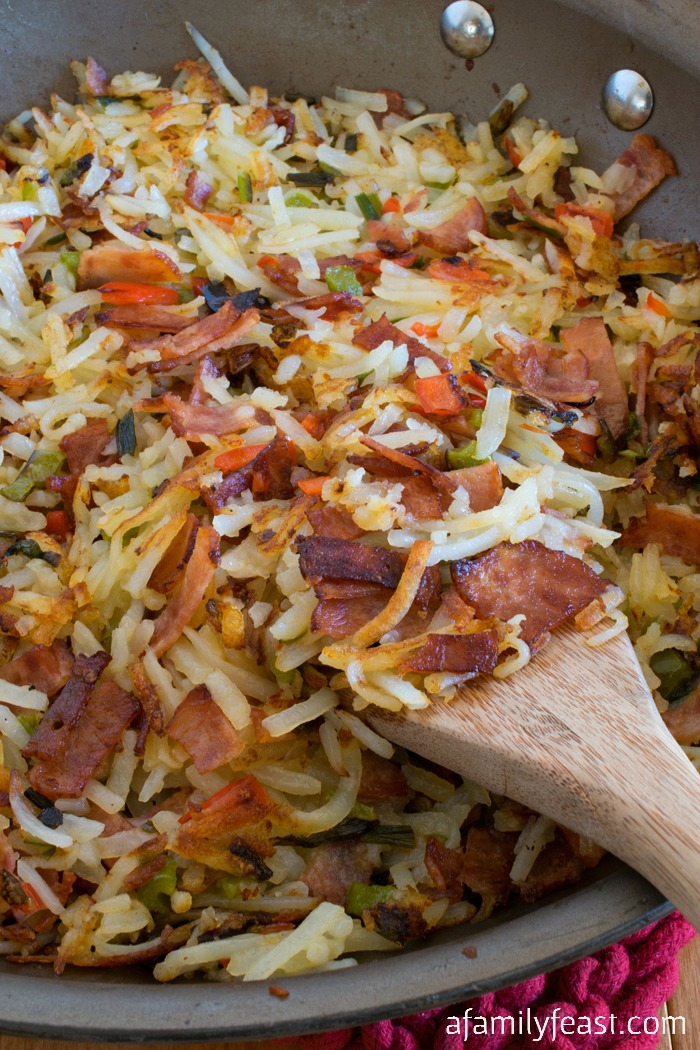 Bacon and Hash Browns Breakfast Bread - A Family Feast