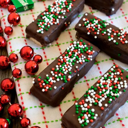 Chocolate Mint Sugar Wafers - A Family Feast