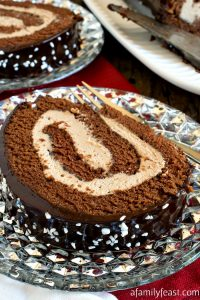 Malted Mocha Swiss Roll - A Family Feast