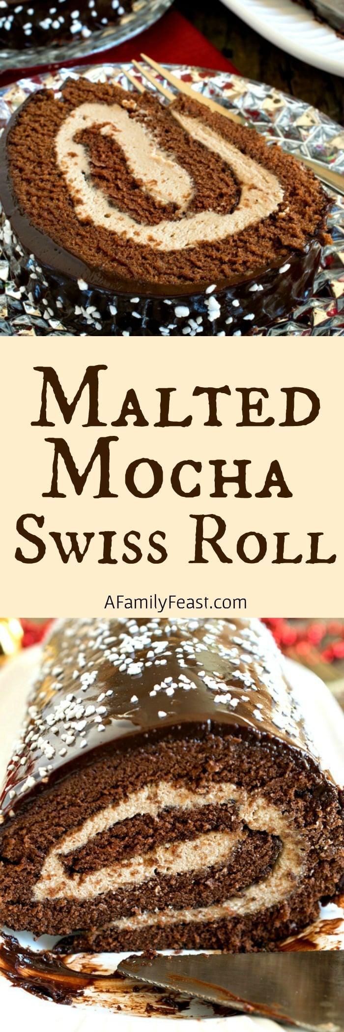 Chocolate Malted Milk Cake Roll Recipe