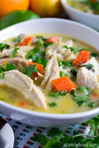 Citrus Chicken and Rice Soup - A Family Feast
