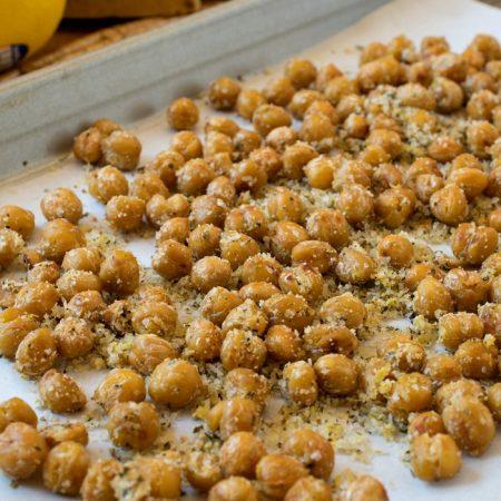 Crispy Parmesan Chickpeas - A Family Feast