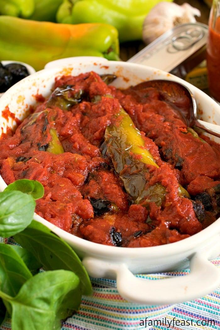 Stuffed Italian Frying Peppers - A Family Feast
