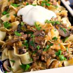 Lazanki with Mushrooms and Beef - A Family Feast