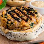 Sweet Potato Spinach and Bacon Turkey Burgers