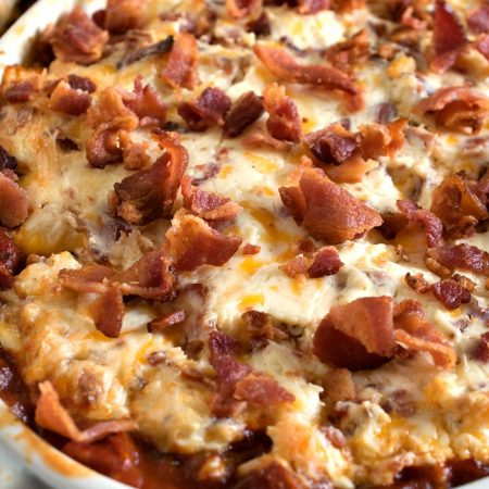 Creamy Roasted Tomato Bacon Dip - A Family Feast