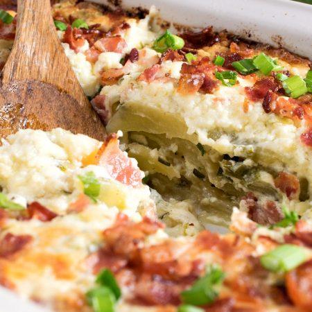 Easy Cheesy Potato Casserole - A Family Feast