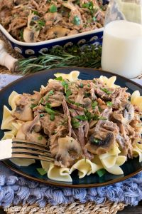 Milk Braised Pulled Pork with Mushrooms - A Family Feast