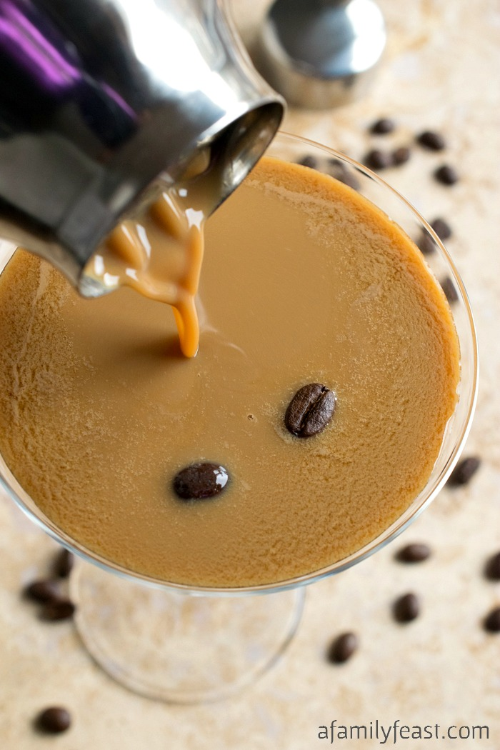 Espresso Martini - A delicious cocktail made with chilled espresso, vodka, kahlua and Irish cream.