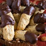 Chocolate Dipped Almond Fingers
