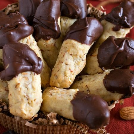 Chocolate Dipped Almond Fingers - A Family Feast