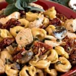 Creamy Tortellini and Chicken with Sun-Dried Tomatoes