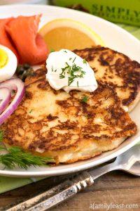 Crispy Creamy Potato Pancakes - A Family Feast
