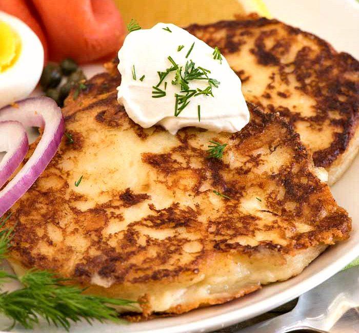 Crispy Creamy Potato Pancakes