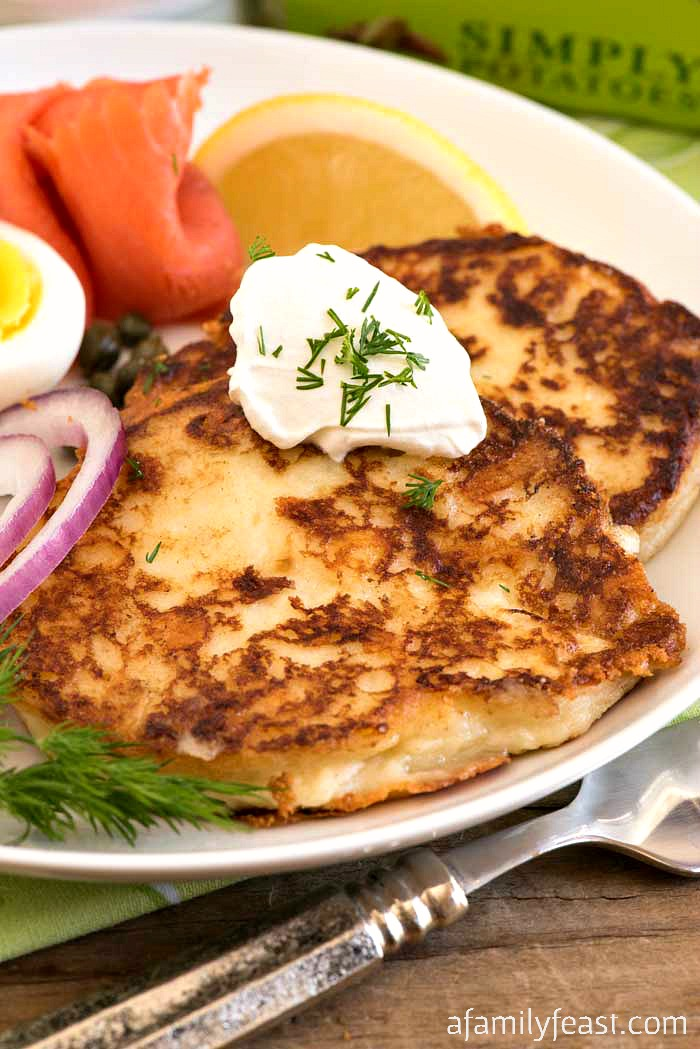 Crispy Creamy Potato Pancakes - Potato pancakes have never been so crispy on the outside and creamy on the inside!