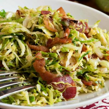 Shaved Brussels Sprouts with Bacon - A Family Feast