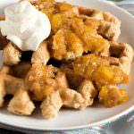 Oat Buttermilk Waffles with Mango-Fig Spread - A Family Feast