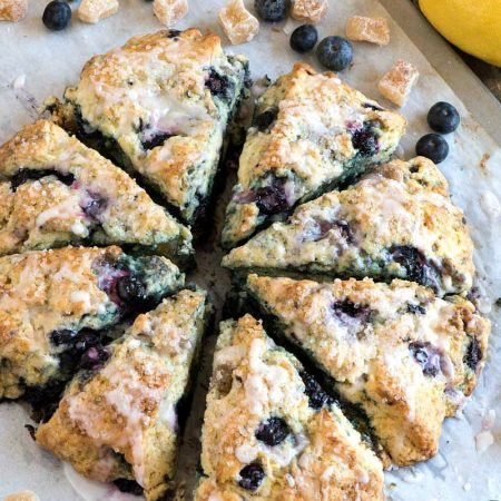 Blueberry Ginger Lemon Scones - A Family Feast