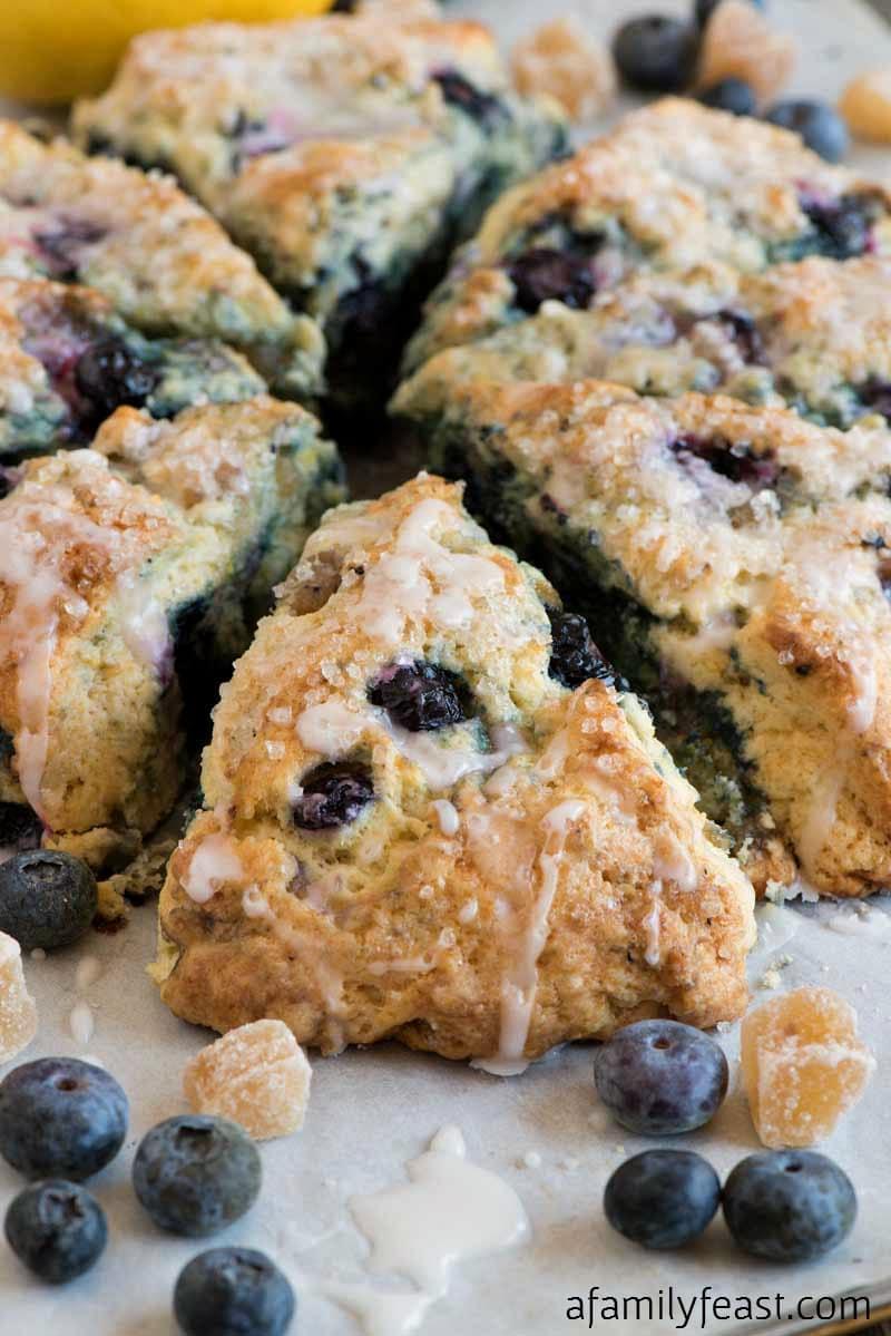 Blueberry Ginger Lemon Scones - A Family Feast