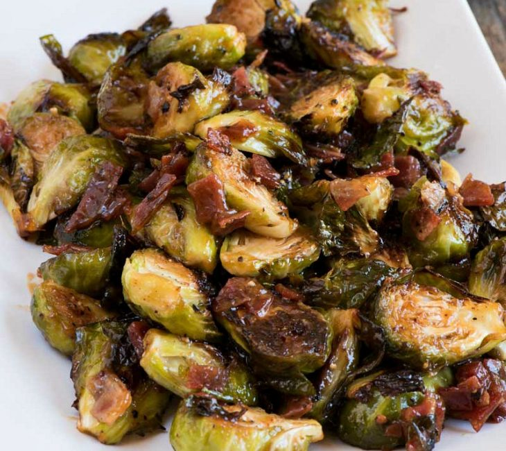 Brussels Sprouts with Sweet Chili Sauce