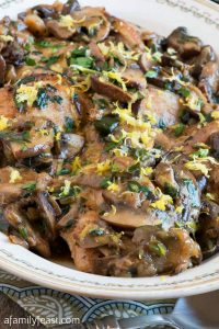 Chicken Thighs with Mushrooms, Lemon and Herbs - A Family Feast