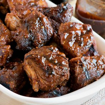 Guinness Barbecued Pork Tips - A Family Feast