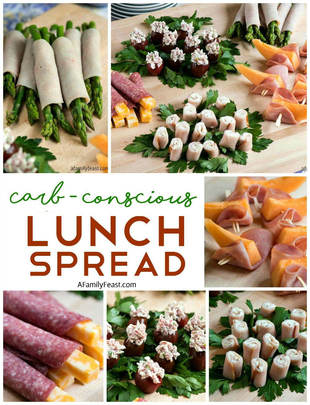 Low Carb Deli Lunch Spread - Easy, low carb nibbles perfect for lunch or a snack!