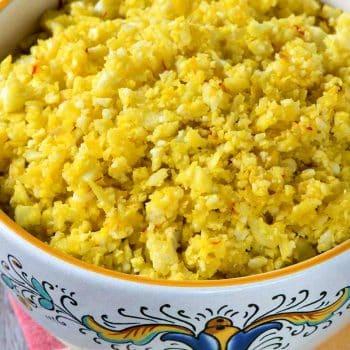 Saffron Cauliflower Rice - A Family Feast