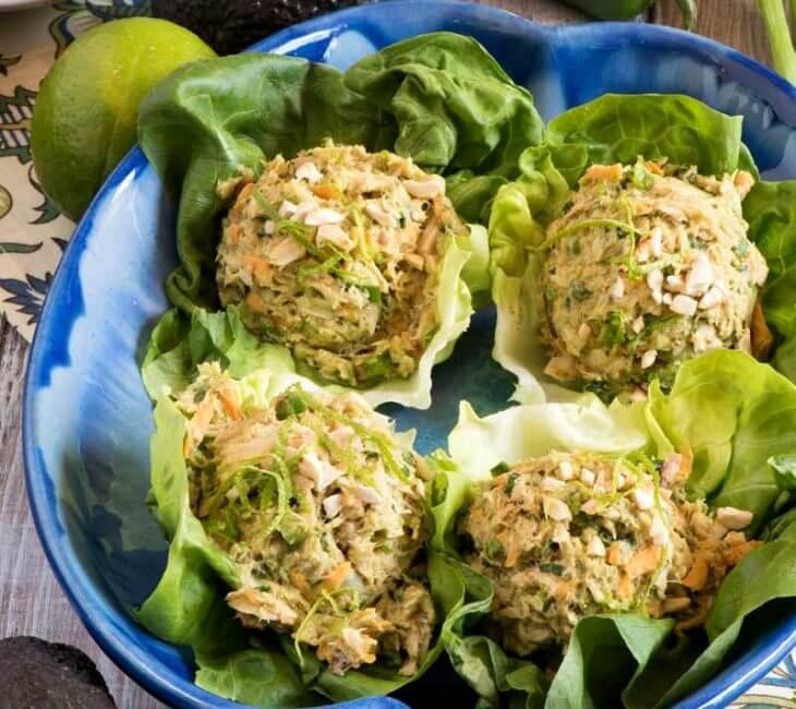 Southwest Tuna Salad Lettuce Boats
