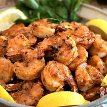 Spicy Grilled Peel and Eat Shrimp - A Family Feast