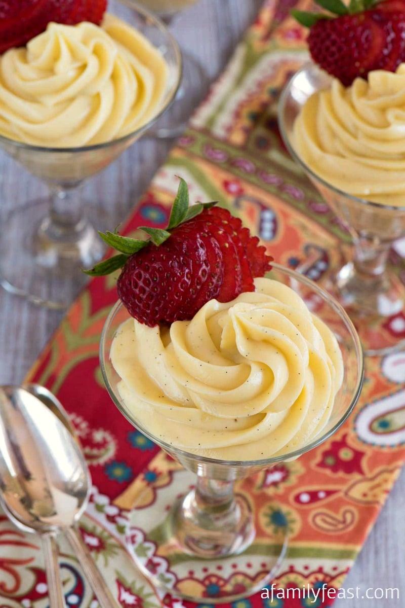 Vanilla Cream Cheese Custard - A creamy, decadent and rich vanilla custard dessert. (So delicious!)