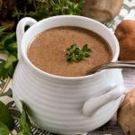 Wild Mushroom and Black Garlic Soup